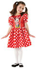 Minnie Mouse Disney Kostüm Kinder Kleid Maus Party Fasching Comic 116 128 %SALE%