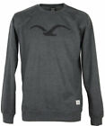Cleptomanicx MÖWE Crewneck Pullover heather black schwarz grau